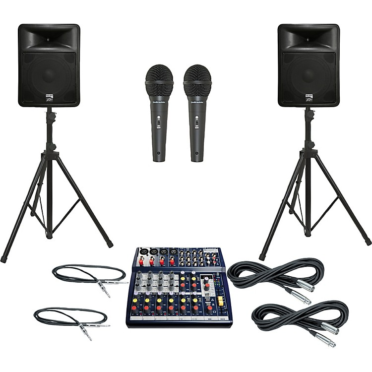 Soundcraft Notepad 124FX / PR15D PA Package