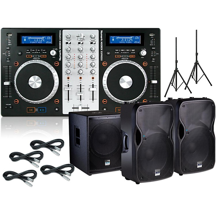 Numark Numark Mixdeck Express bundle with Alto TS112A Speakers