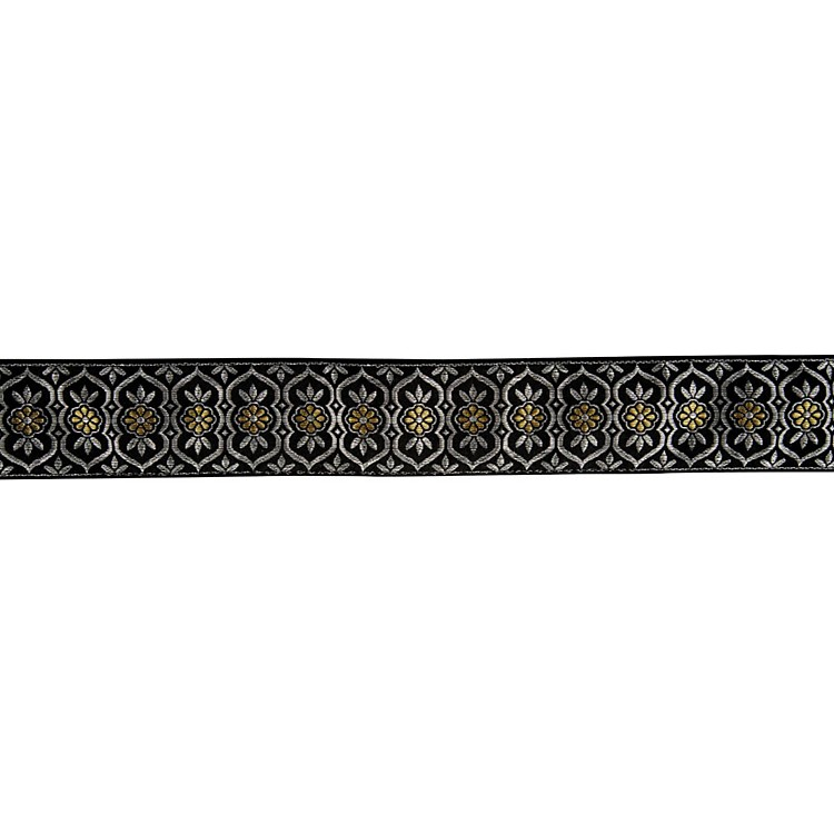 Fender Nylon Jacquard Guitar Strap Silver and Gold Batam 2 in.