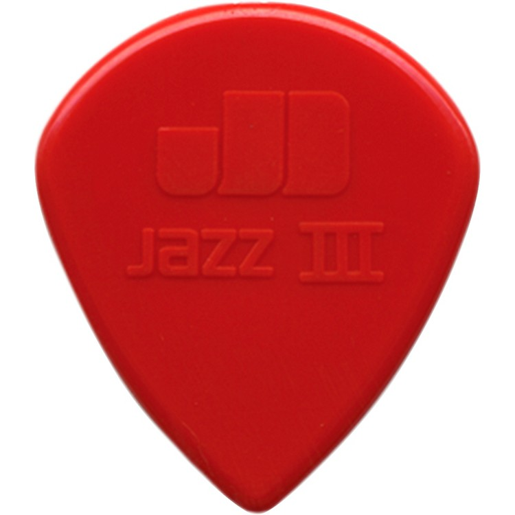 Dunlop Nylon Jazz III Guitar Pick Red 6-Pack