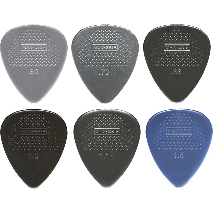 DunlopNylon Max Grip Guitar Picks - 12-Pack