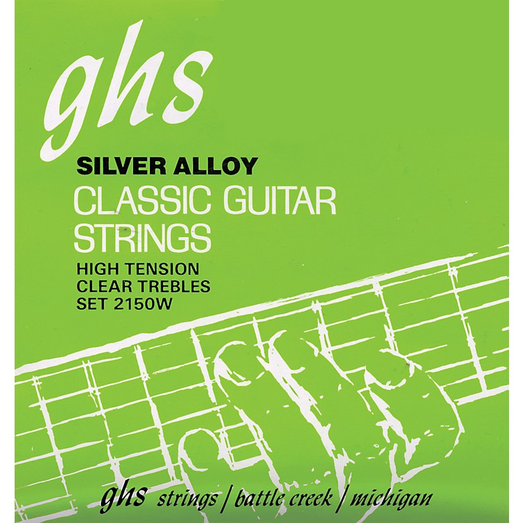 GHSNylon and Silver Classical Guitar Strings - Tie End