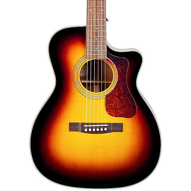 Guild OM-140CE Acoustic-Electric Guitar Sunburst
