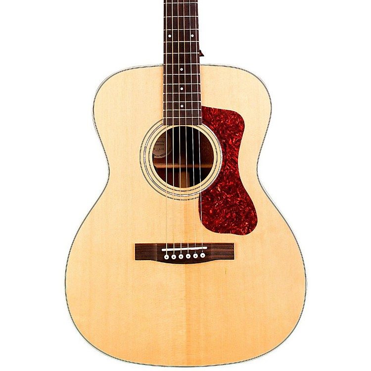 Guild OM-140E Orchestra Acoustic-Electric Guitar Natural