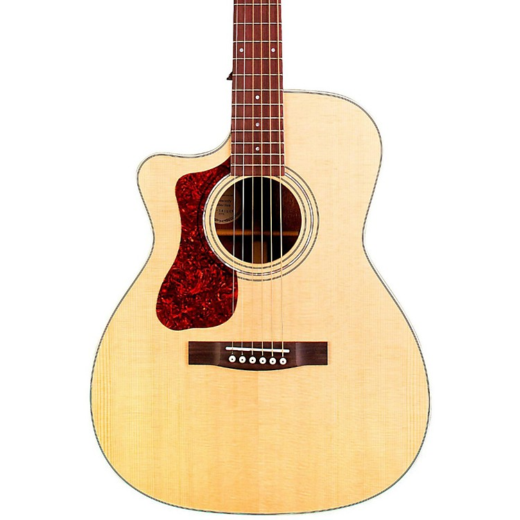 GuildOM-140LCE Orchestra Left-Handed Acoustic-Electric GuitarNatural