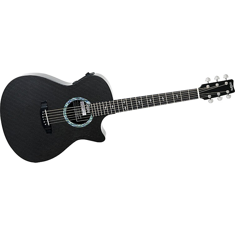 Rainsong OM1000 Orchestra Cutaway Acoustic-Electric Guitar Black