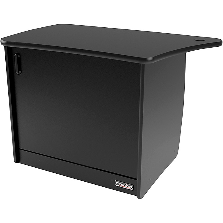 OmniraxOM13DL 13-Rackspace, CPU Cubby, and Door to Fit on the Left Side of the OmniDesk - Black