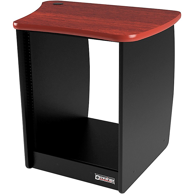 OmniraxOM13R 13-Space Rack Cabinet for the Right Side of the OmniDesk - Mahogany