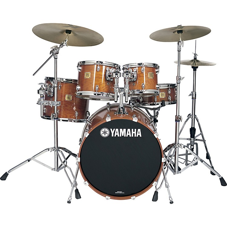 Yamaha Oak Custom 4 Piece Fusion Shell Pack Red Oak