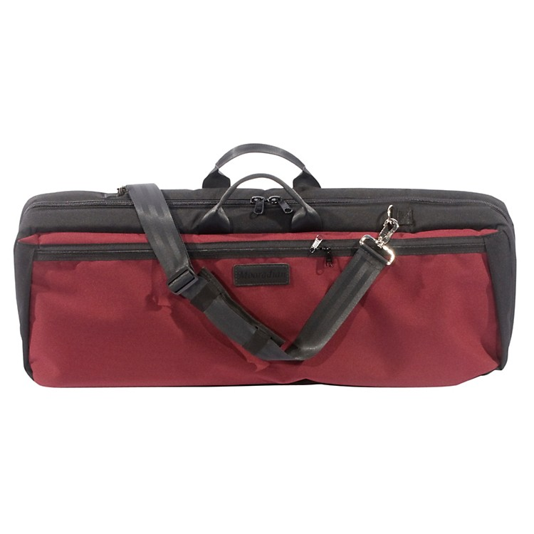Mooradian Oblong Viola Case Slip-On Cover with Combination Straps Burgundy