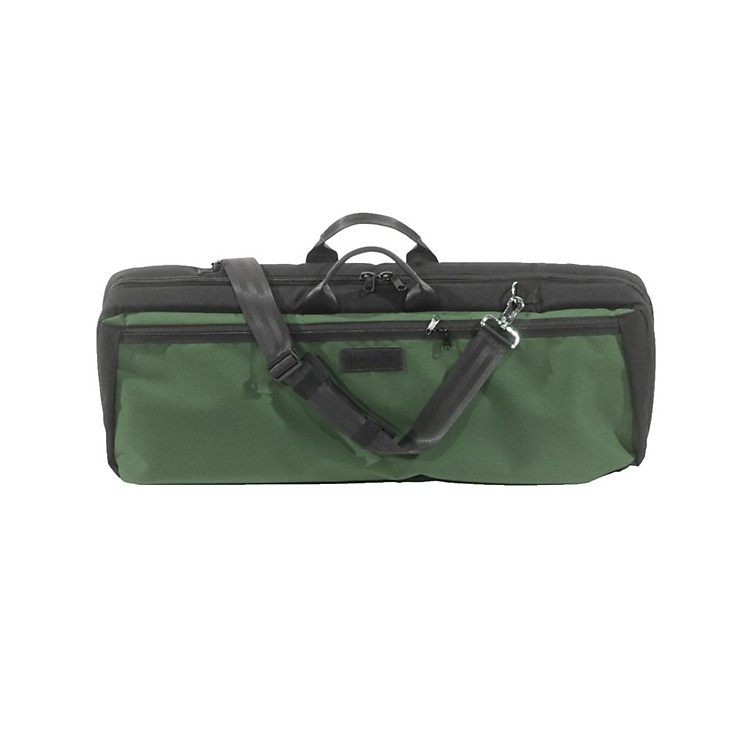Mooradian Oblong Viola Case Slip-On Cover with Combination Straps Green