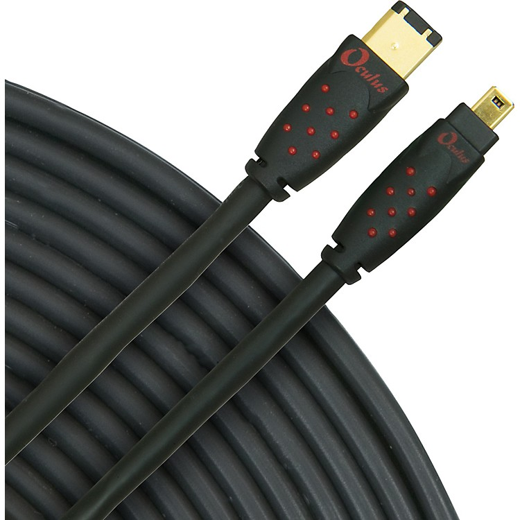 Rapco Horizon Oculus 4-Pin to 6-Pin Firewire Cable, Series 6, Eco-Friendly Black 3 Meter