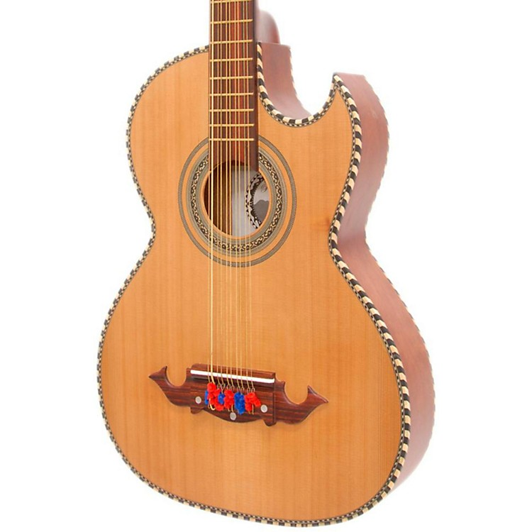 Paracho Elite Guitars Odessa-P 10 String Acoustic-Electric Bajo Quinto Natural