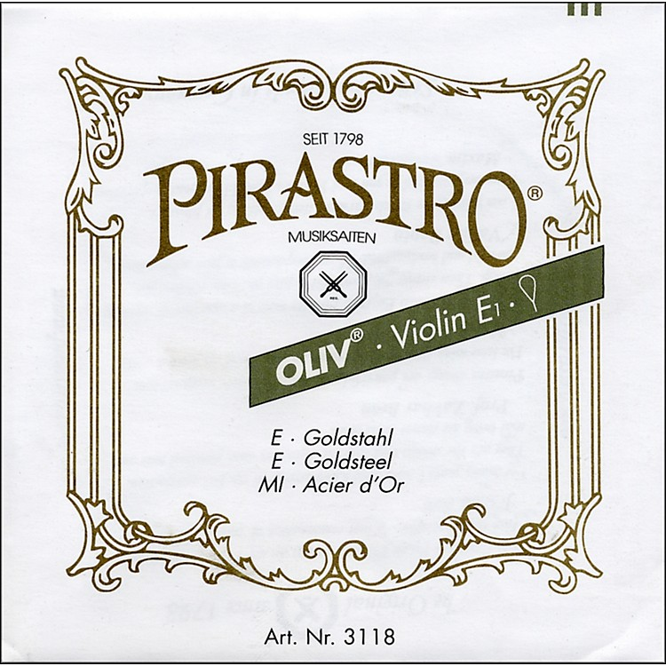 Pirastro Oliv Series Violin D String 4/4 - Silver 13-13/4 Gauge