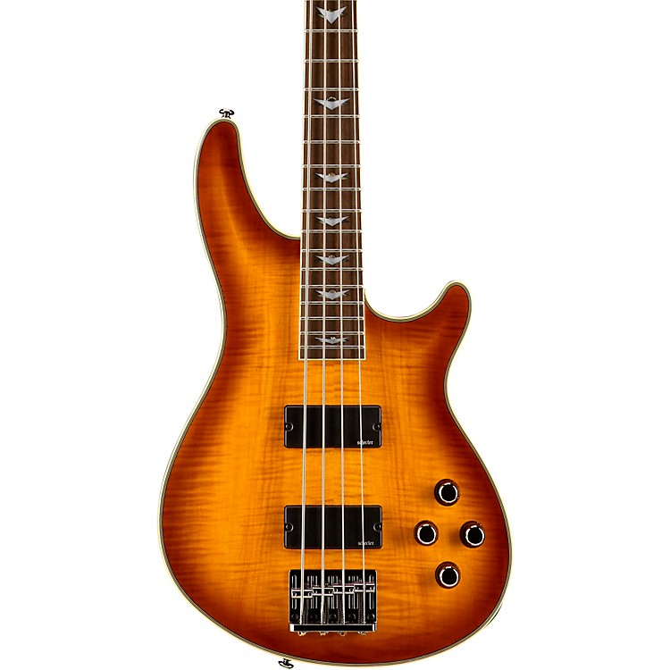Schecter Guitar Research Omen Extreme-4 Electric Bass Guitar-OLD Vintage Sunburst