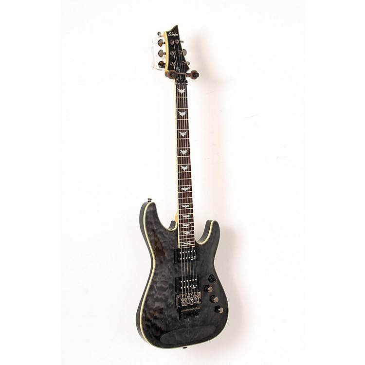 Schecter Guitar Research Omen Extreme-6 FR Electric Guitar See-Thru Black 888365916651