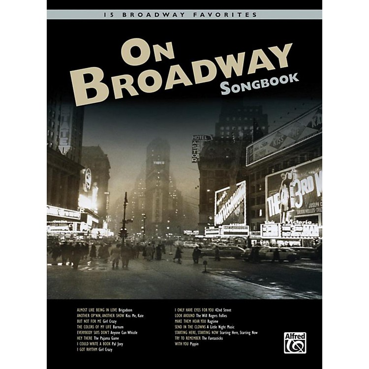 AlfredOn Broadway Songbook Book & CD