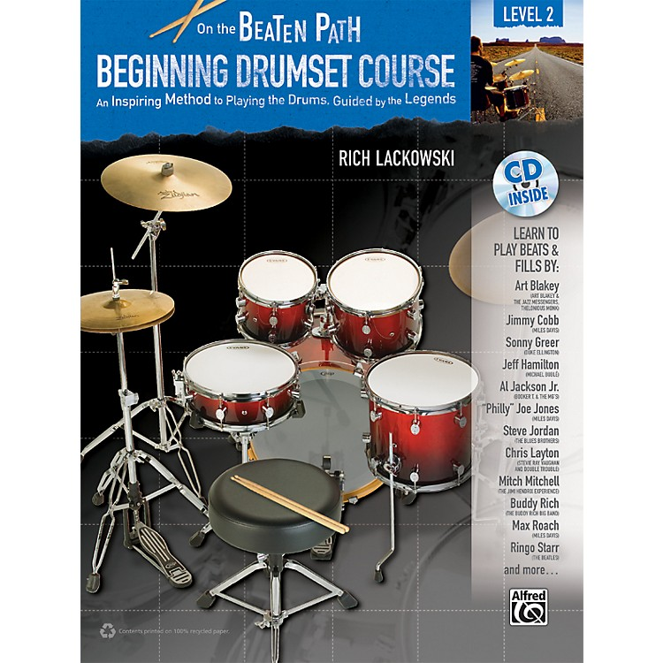 Alfred On the Beaten Path Beginning Drumset Course Level 2 Book & CD