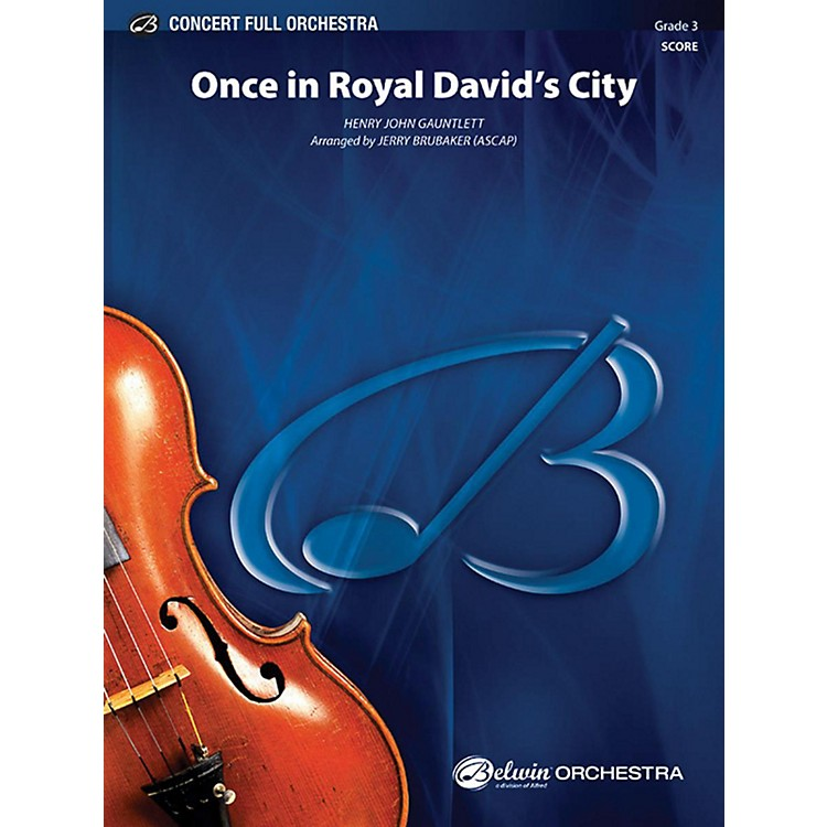 Alfred Once in Royal David's City Full Orchestra Grade 3