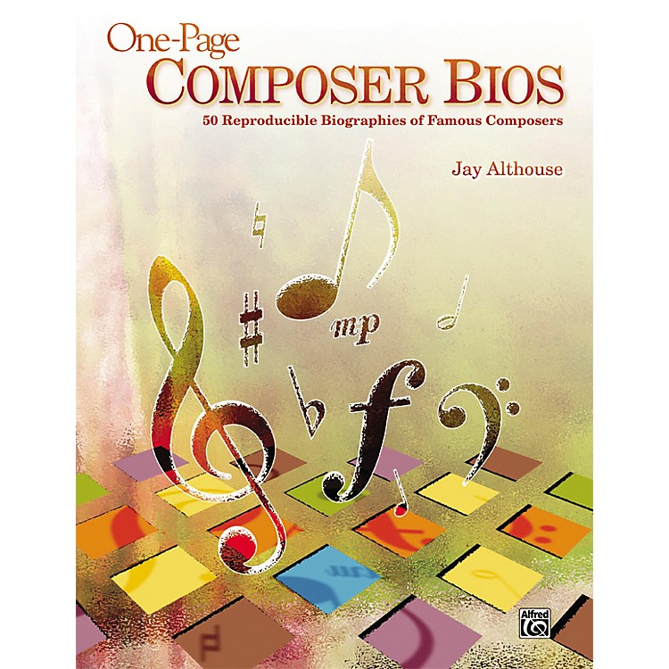 AlfredOne-Page Composer Bios - 50 Reproducible Biographies of Famous Composers (Book)
