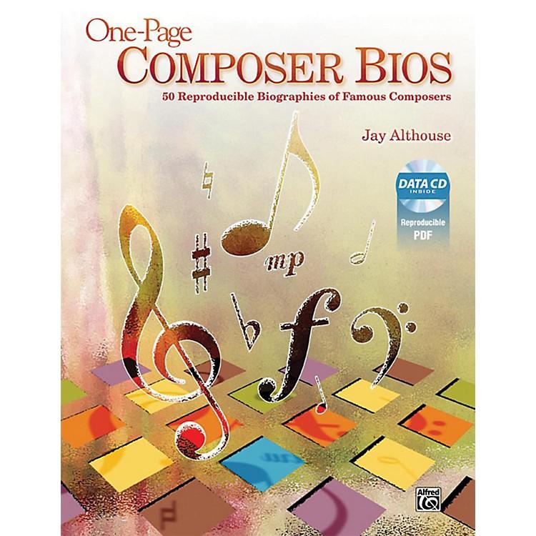 AlfredOne-Page Composer Bios Book & Data CD