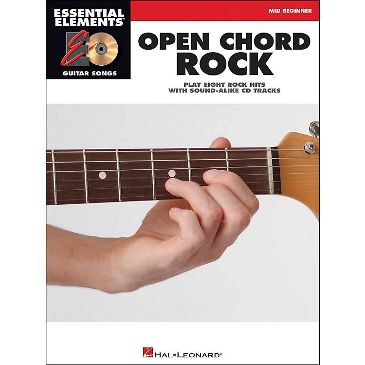 Hal Leonard Open Chord Rock Essential Elements Guitar Songs Book/CD Mid Beginner