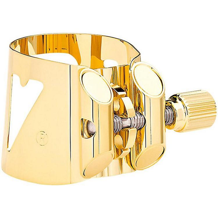 VandorenOptimum Series Saxophone LigatureBari Sax Gold-Glided Lig and Platic Cap