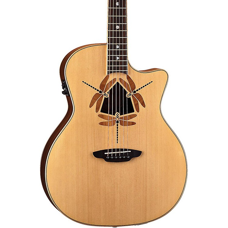 Luna Guitars Oracle Dragonfly Grand Concert Cutaway Acoustic-Electric Guitar