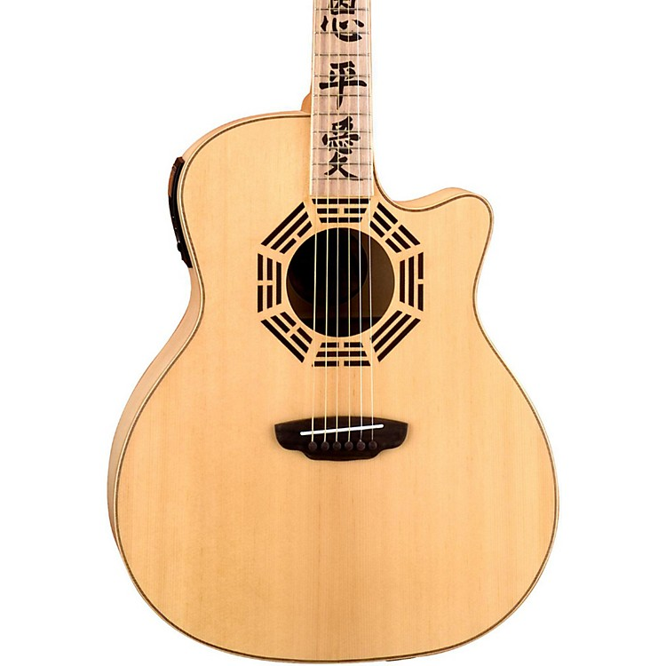 Luna Guitars Oracle Series Zen Grand Auditorium Cutaway Acoustic-Electric Guitar Natural