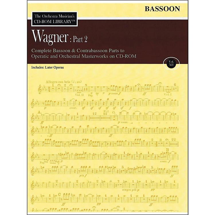 Hal LeonardOrchestra Musician's CD-Rom Library Vol 12 Wagner Part 2 Bassoon