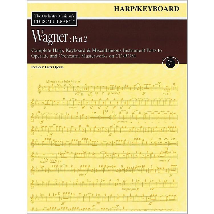 Hal LeonardOrchestra Musician's CD-Rom Library Vol 12 Wagner Part 2 Harp Keyboard And Misc Instr