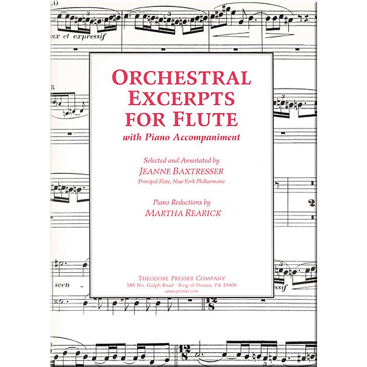 Carl FischerOrchestral Excerpts For Flute