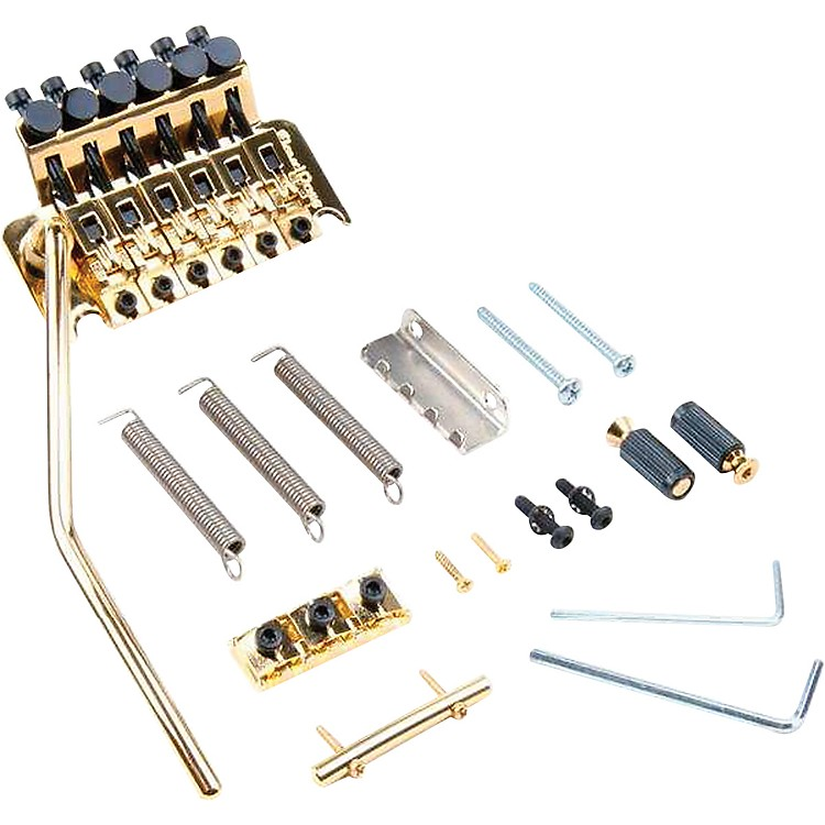 Floyd Rose Original Series Tremolo Bridge with R2 Nut Gold