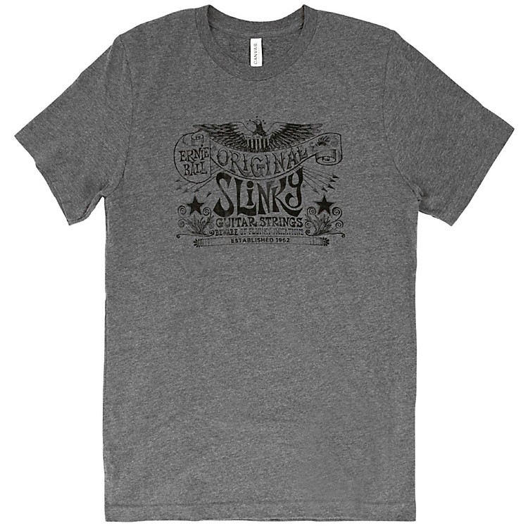 Ernie Ball Music ManOriginal Slinky Deep Heather T-ShirtSmallHeather Gray