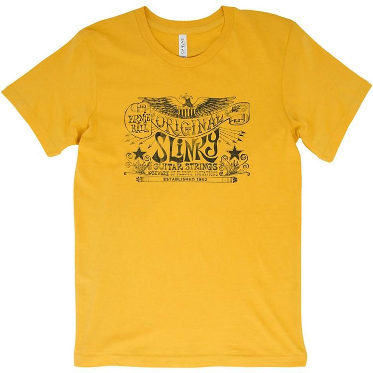 Ernie BallOriginal Slinky Maize Yellow T-ShirtLargeYellow