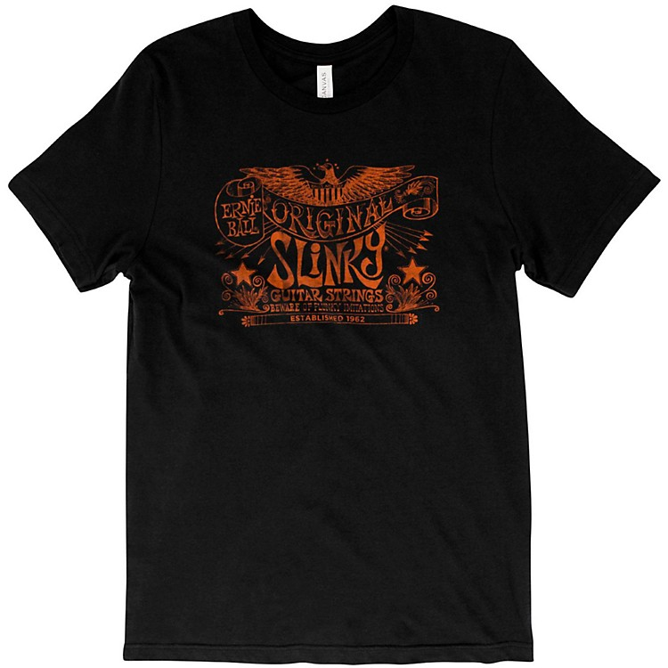 Ernie BallOriginal Slinky Vintage Black T-ShirtLargeBlack