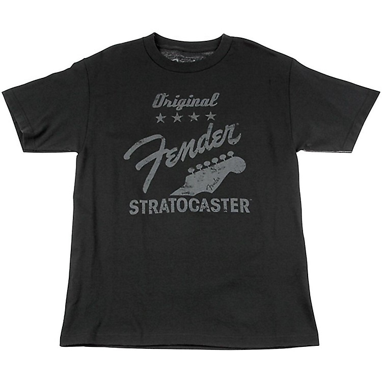 Fender Original Strat T-Shirt, Charcoal Large