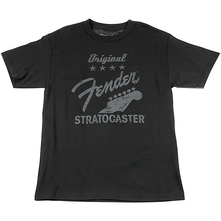 Fender Original Strat T-Shirt, Charcoal Medium