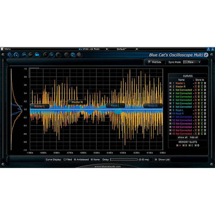 Blue Cat Audio Oscilloscope Multi Waveform Visualizer Software Download