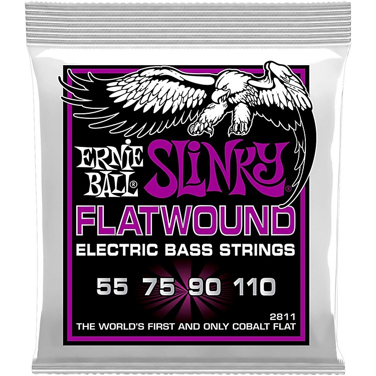 Ernie BallP02811 Power Slinky Flatwound Bass Strings