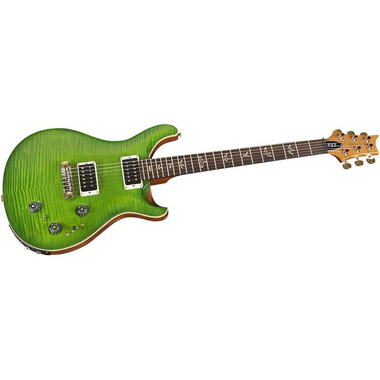 PRS P22 Pattern Regular Neck Flame 10-Top with Hybrid Hardware Electric Guitar Eriza Verde