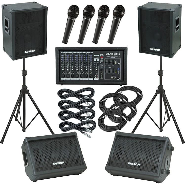 Gear OnePA2400 / Kustom KPC15 Mains and Monitors Package