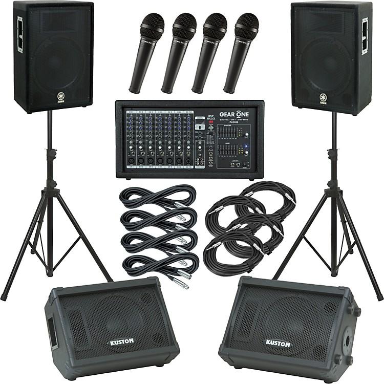 Gear OnePA2400 / Yamaha A15 Mains and Monitors Package