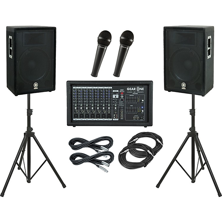 Gear OnePA2400 / Yamaha A15 PA Package
