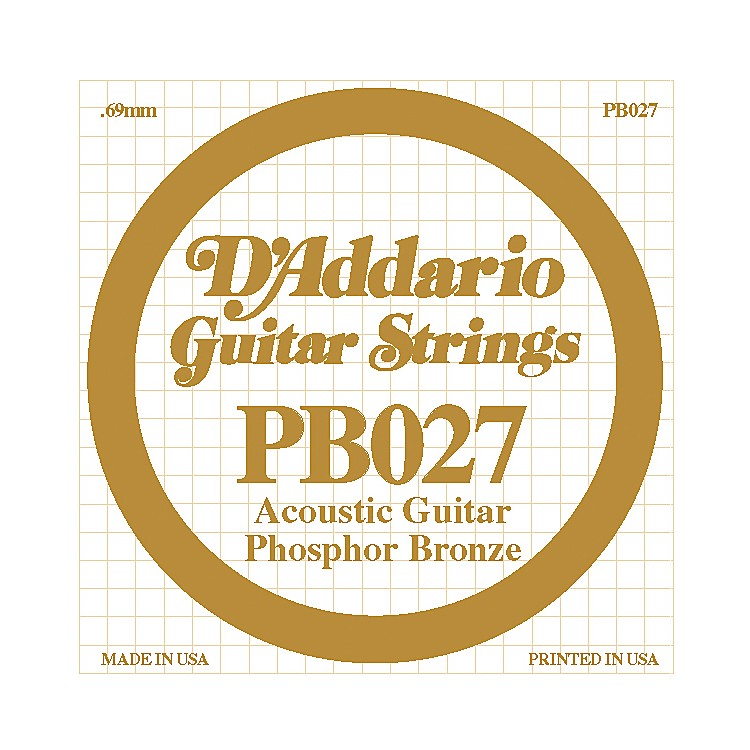 D'Addario PB027 Phosphor Bronze Guitar Strings