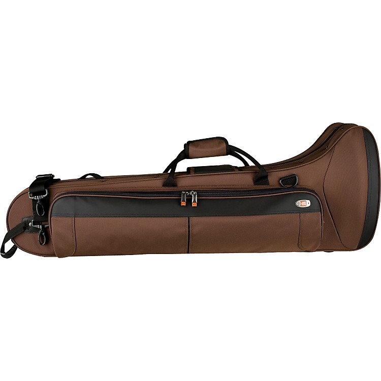 Protec PB306CTCH Contoured Straight/F Attachment Tenor Trombone PRO PAC Case PB306CTCH Chocolate