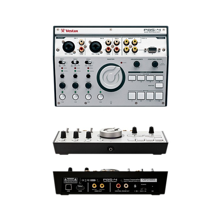 Vestax PBS-4 Personal Live Web Broadcasting Video and Audio Mixer