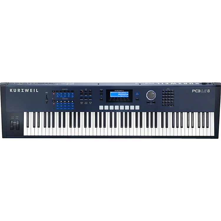 Kurzweil PC3LE8 88-Key Hammer-Action Performance Controller & Workstation Keyboard (Light Edition)