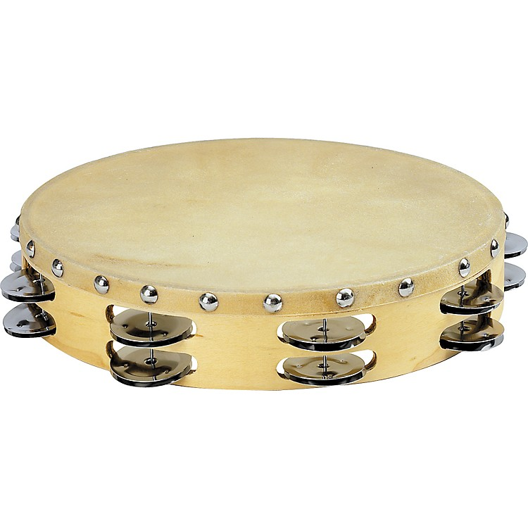 Sound Percussion Labs PDM2016M-R Tambourine with Calfskin Head