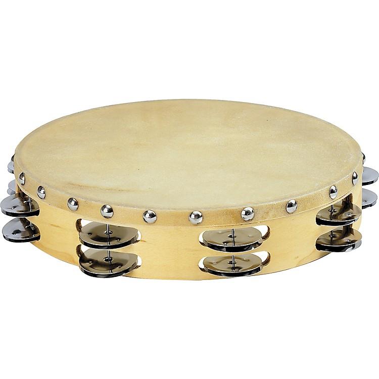 Sound Percussion LabsPDM2016M-R Tambourine with Calfskin Head10 in.